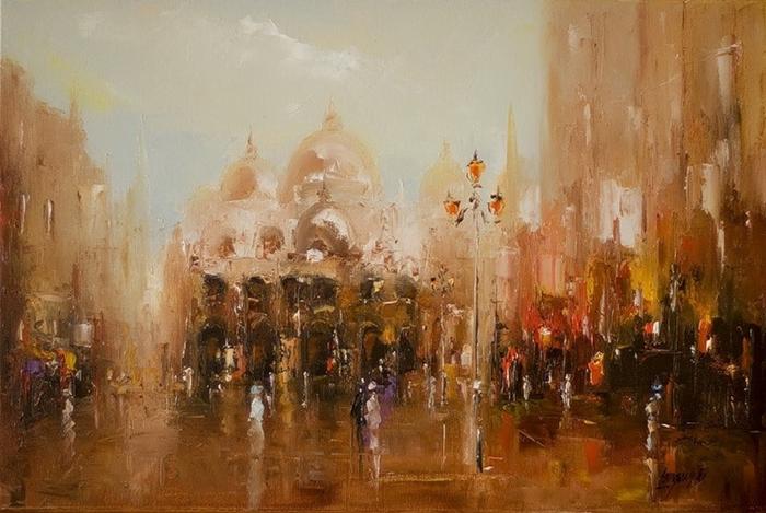 Marek Langowski - Polish Impressionist Landscapes painter - Tutt'Art@ (10)