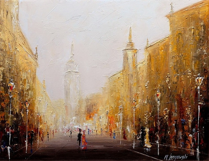 Marek Langowski - Polish Impressionist Landscapes painter - Tutt'Art@ (26)