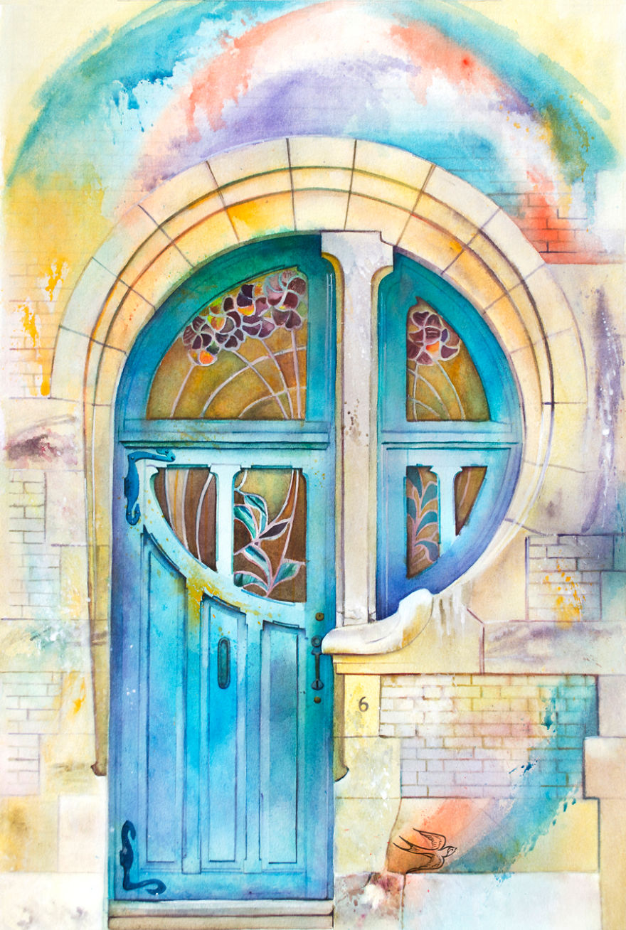 watercolor-door-brussels