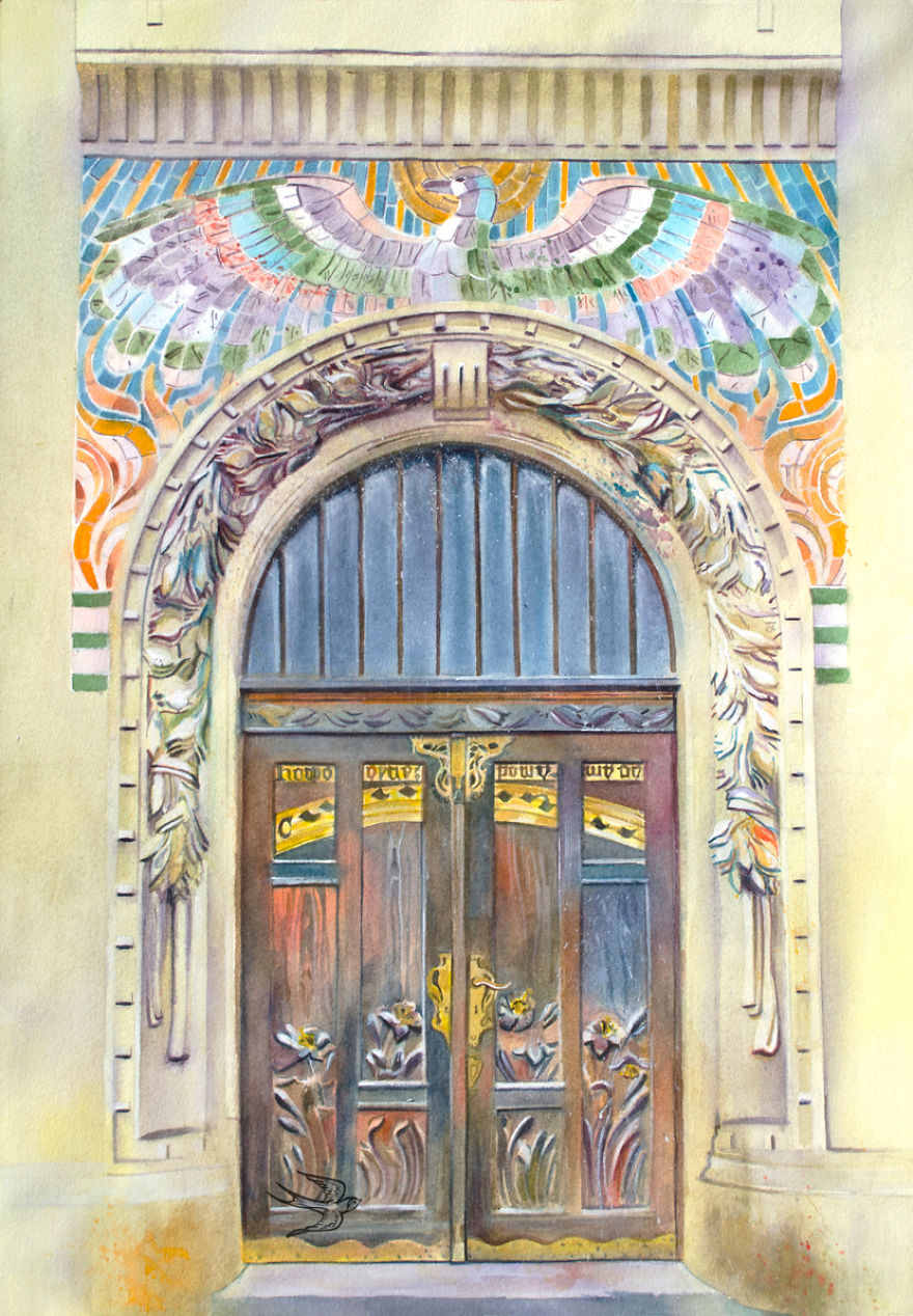 watercolor-door-prague-1