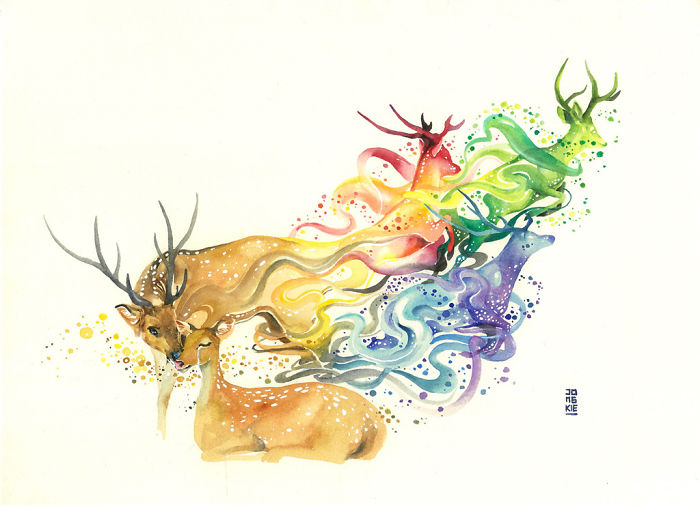 My-Emotional-Feeling-Lead-Me-To-Paint-Animal-Illustration-In-Watercolor6__700