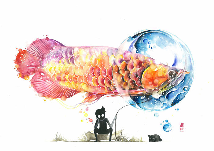 My-Emotional-Feeling-Lead-Me-To-Paint-Animal-Illustration-In-Watercolor7__700