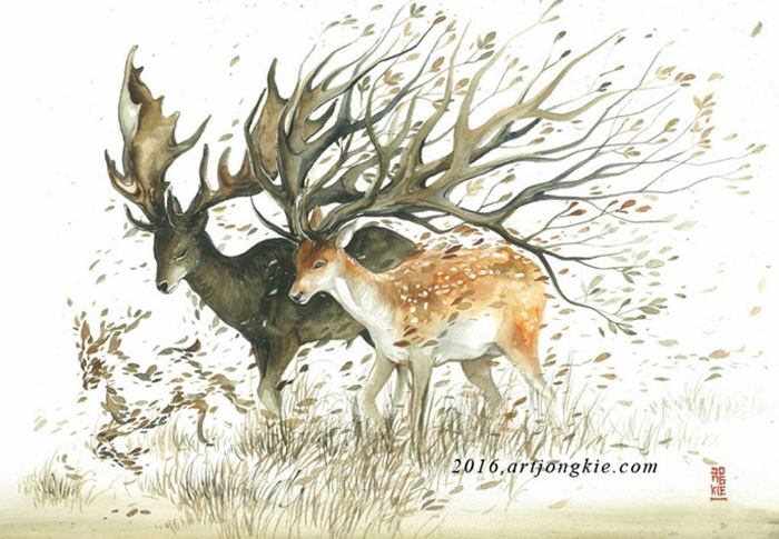 Watercolor-Lead-Me-To-Make-An-Expressive-And-Whimsical-Animal-Illustration12__700