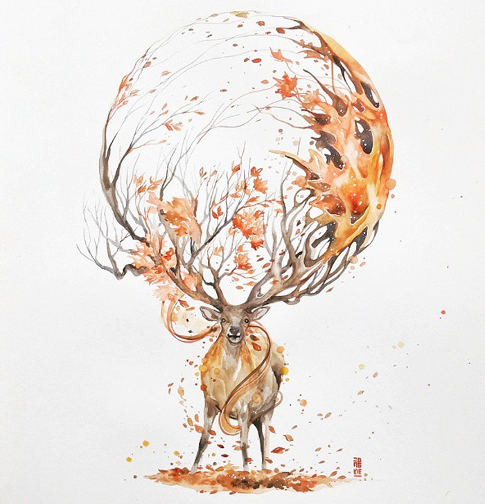 Watercolor-Lead-Me-To-Make-An-Expressive-And-Whimsical-Animal-Illustration15__700
