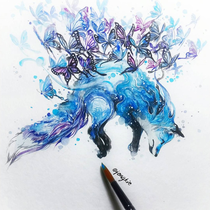 Watercolor-Lead-Me-To-Make-An-Expressive-And-Whimsical-Animal-Illustration20__700