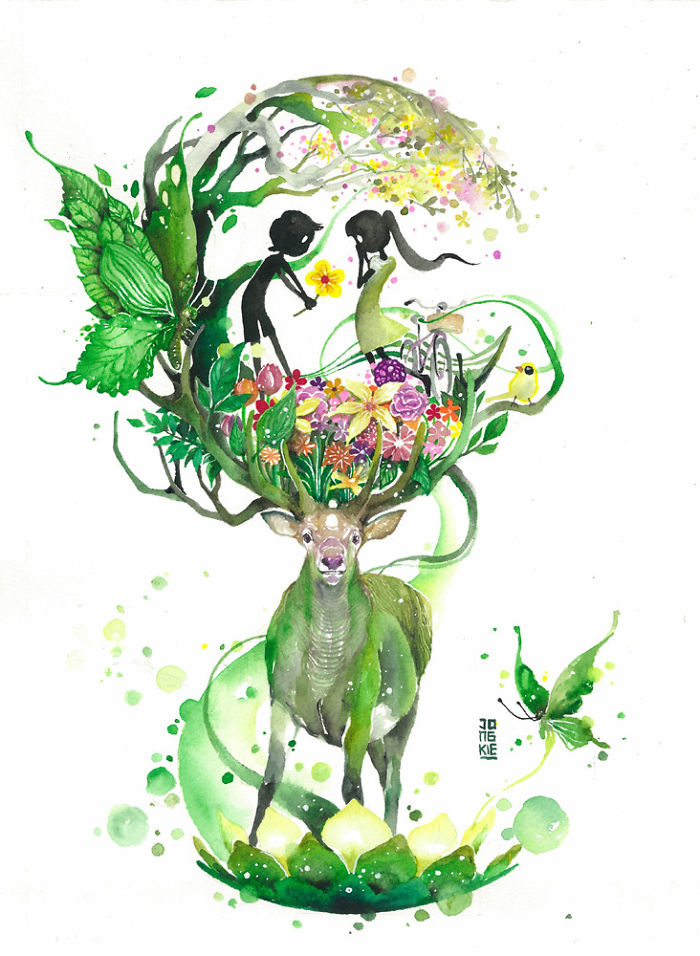 Watercolor-Lead-Me-To-Make-An-Expressive-And-Whimsical-Animal-Illustration9__700